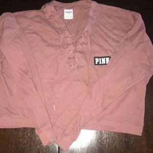 Pink crewneck hoodie